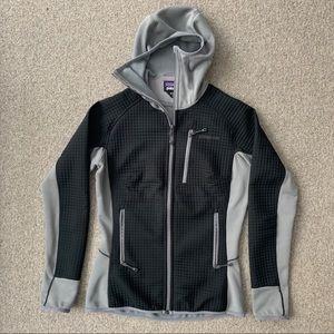 Worn twice! Patagonia zipper fleece with hood.